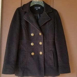 Forever 21 Warm Double Button Peacoat